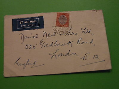 Cover  Malaya Pahang To England 1937 Cancel ..  See Post Offer