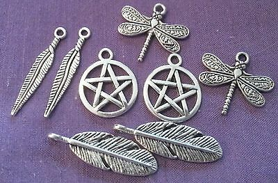 Bargain - New Bulk Lot - 8 X Silver Plated Charms