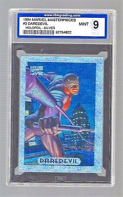 1994 Marvel Masterpieces Holofoil-Silver Daredevil #3 ISA 9 #52754822
