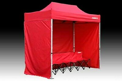 Kwik Tent with Bench, Red, 10'H x 10'W