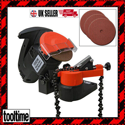 VOCHE® 220W ELECTRIC CHAINSAW SAW BLADE CHAIN SHARPENER WITH 3 x GRINDING DISCS