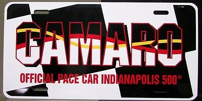 1993 Official Indianapolis 500 Pace Car License Plate Chevrolet Camaro Rare Nice