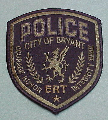 Bryant  Arkansas  Ert Subdued Green/blk  Police Patch  Nice!!  Free Shipping!!!