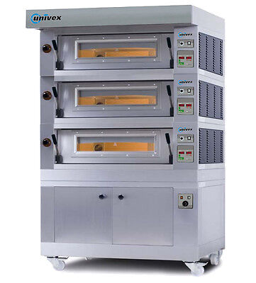 Univex PSDE-3B Pizza Stone Triple Deck Electric Oven 220v/60/3-ph