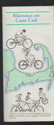 Bikeways on Cape Cod Brochure 1960s Bicycling