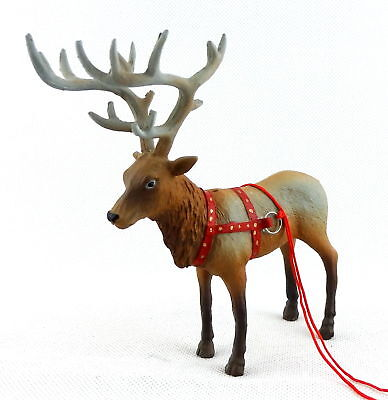 Dolls House Santa's Reindeer Rudolph Miniature Christmas Stable Animal 1:12