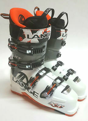 2014 Lange XT 100 Ski Boot Men's White/Black/Orange Four Buckle