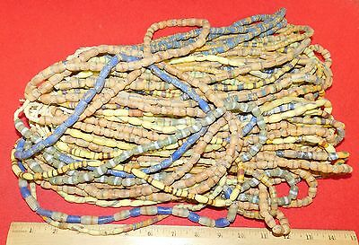 Bundle of (50) Strands of Sandcast Trade Beads #1....Buy It Now