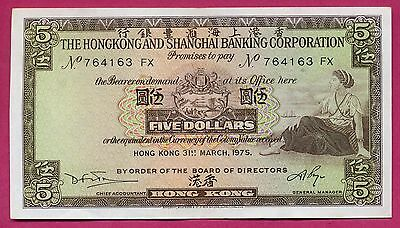 Hong Kong ( P#181f ) billet de banque $.5 ~ ttb+ ~ 1975 ( lot 163 )