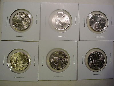 2009 All Six P&D Territory Quarters - BU - 12 Coins - Uncirculated