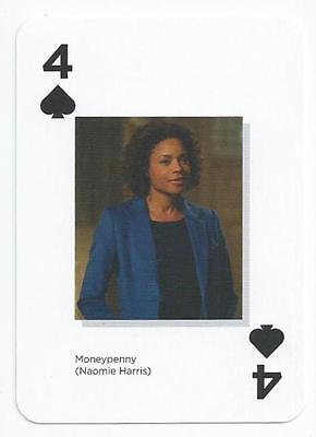 James Bond 007  - Card - Four Of Spades - Moneypenny  (Akel)