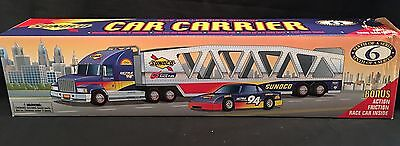 1999 Sunoco Collector's Edition Car Carrier With Race Car MIB #6 In Series