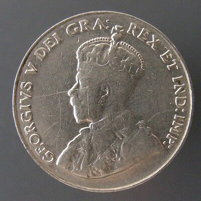 George V Five Cents Nickel 1926