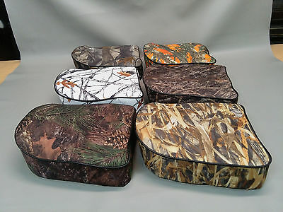 UNIVERSAL CUSTOM BOAT SEAT (Pedestal Seat as shown) bolt on 7 CAMO OPTIONS (W)