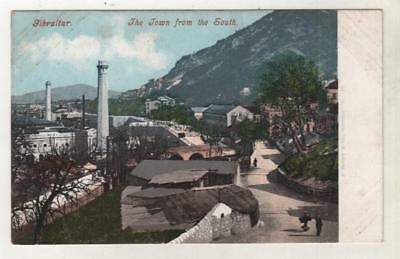 GIBRALTAR - TOWN FROM THE SOUTH Purger Postcard *
