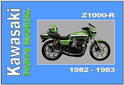 KAWASAKI Parts Manual Z1000R KZ1000R R1 & R2 1982 & 1983 Spares List Catalog