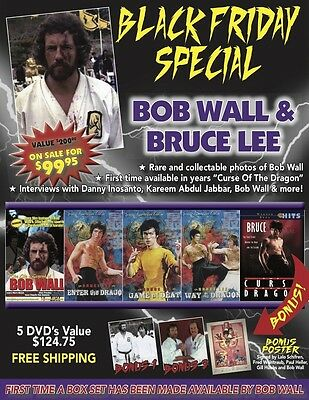 Bob Wall & Bruce Lee Holiday Gift Set 5 DVD Enter the Dragon Poster $200 Value!