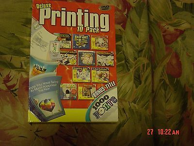 Deluxe Printing - 10 Pack (PC Software, 2004)  11 Complete Programs