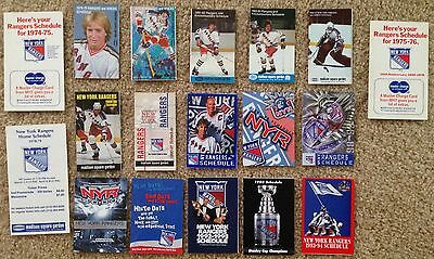 LOT 18 Diff NEW YORK RANGERS NHL Hockey Schedules 1974 to 2005 GRETZKY MESSIER