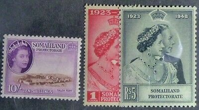 Stamps: Somaliland Protectorate: SG# 119-20 MNH  148 MH   E422