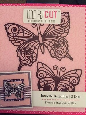 Intricut Butterflies Cutting Dies Cutters 2 Pieces Scrapbook Papercraft Craft
