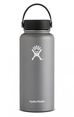 Hydro Flask 32 oz Insulated Wide Mouth Stainless Steel Water Bottle Graphite NEW