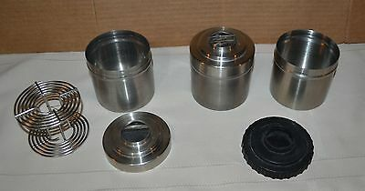 3 Nikor Stainless Film Developing Tank Drum 2 Reels 4.5 inches - Parts - Cans