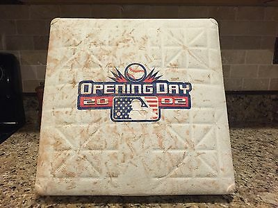 Boston Red Sox 2002 Opening Day Game Used 9/11 Tribute Baseball Base Pedro