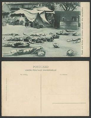 China Hong Kong Old Postcard Chinese Criminals Execution, Heads Bodies in Street