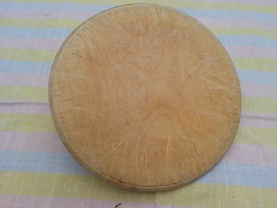 Vintage Round Rectangular Shabby  Wooden Bread Board