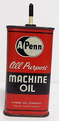 Viintage A Penn Oil Can Machine Oil All Purpose Gas Collectible