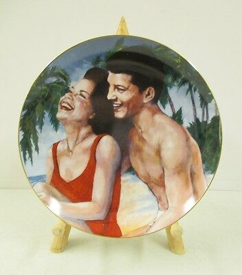 Frankie & Annette Collection Limited Edition Fun In The Sun Plate Frankie Avalon