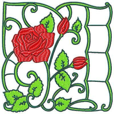 ROSES BLOCKS  no 2 12 MACHINE EMBROIDERY DESIGNS CD 2 SIZES