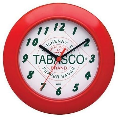 TABASCO Brand Hot Sauce NEW Red Wall Clock Novelty Funny Bar Man Cave New In Box