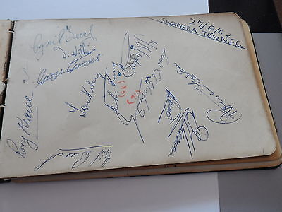 Vintage Football Autographs Swansea Town/stoke City Early1950Sfrom Autographbook