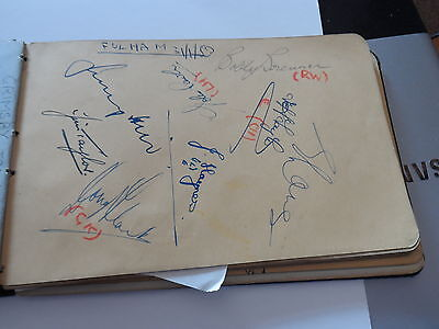 Vintage Football Autographs Fulham/bristol Rovers  Early1950Sfrom Autographbook