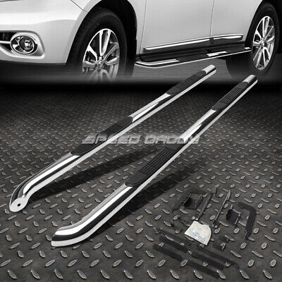 """Chrome Stainless 3"""" Side Step Nerf Bar Running Board For 13-17 Nissan Pathfinder"""