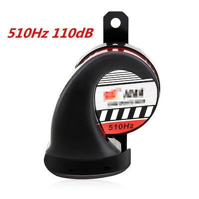 New 12V Motorcycle ATV Super Loud 510Hz 110dB Snail Air Horn Compact Waterproof