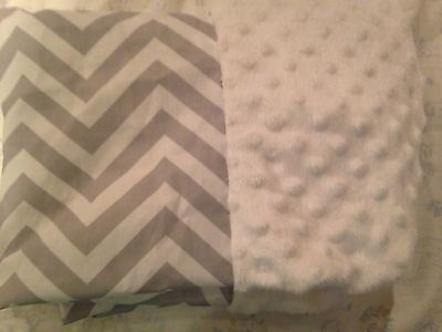 CIRCO Wipeable Gray Chevron Changing Pad Cover New Minky Dot Baby ��
