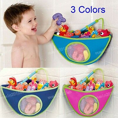Waterproof Kids/Boys/Girls Baby Bath Room Toy Tidy Storage Suction Cup Holder FH