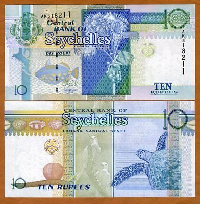 Seychelles, 10 rupees, 2013 P-36c UNC   replaced by a coin