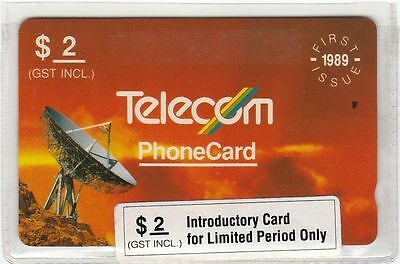 Nz Telecom 1989 First Issue $2 Phone Card Unused