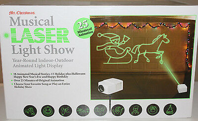 Mr Christmas Musical Laser Light Show 25 Min Animated Projector Retails $299