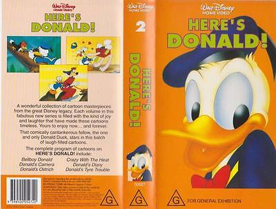 Heres Donald ! Walt Disney ~A Rare Find  ~Vhs Video Pal