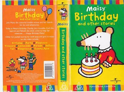 Maisy Birthday And Other Stories  Vhs Video Pal~ A Rare Find