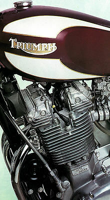 TRIUMPH Poster T160 Trident Engine Suitable to Frame