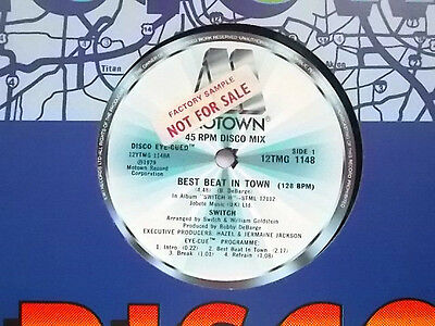 "Switch Best Beat In Town 12"" Single 1979 N/mint"