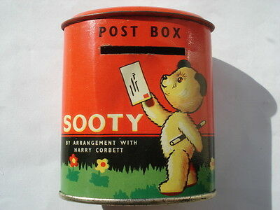 Scarce C1950S Vintage Chad Valley Sooty Tin Post Box
