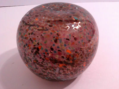 Australian Studio Glass Paperweight Signed Don Wreford