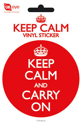 Vinyl Sticker / Aufkleber KEEP CALM AND CARRY ON - Rund ca9cm NEU SK0056